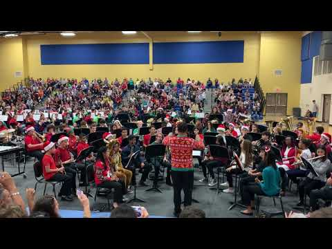 Innovation middle school symphonic band: holiday highlights