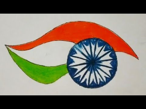 Independence Day Drawing Easy For Kids Happy Independence Day Special Drawing Youtube