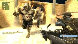 Counter Strike Source - Zombie mod Zombie Boss fight - Multiplayer Gameplay Walkthrough on Dust map