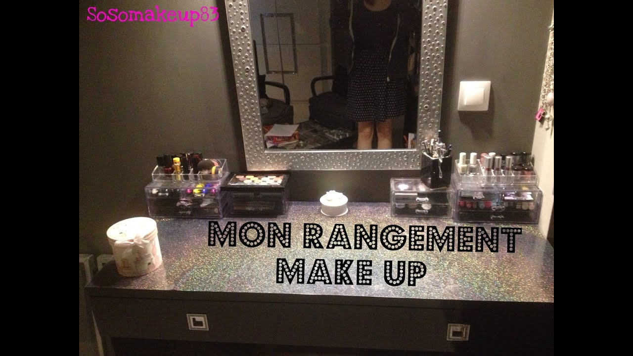 mon rangement make up youtube. Black Bedroom Furniture Sets. Home Design Ideas
