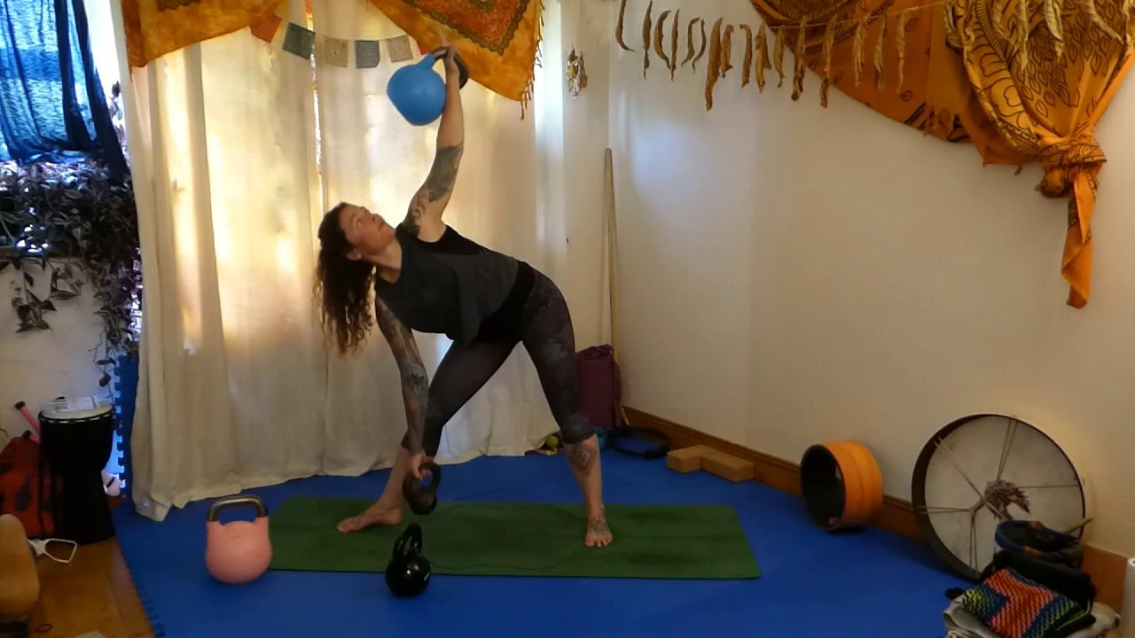 Kettlebell Triangle Pose