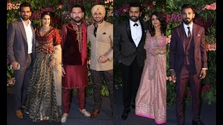 Indian Cricketers At Virat And Anushka's Reception In Mumbai
