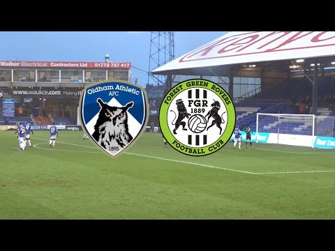 HARD EARNED POINT!! OLDHAM ATHLETIC VS FOREST GREEN ROVERS VLOG!!