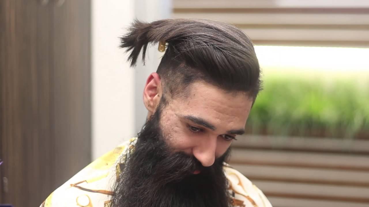 UnderCut Skin Fade with a Beard Trim