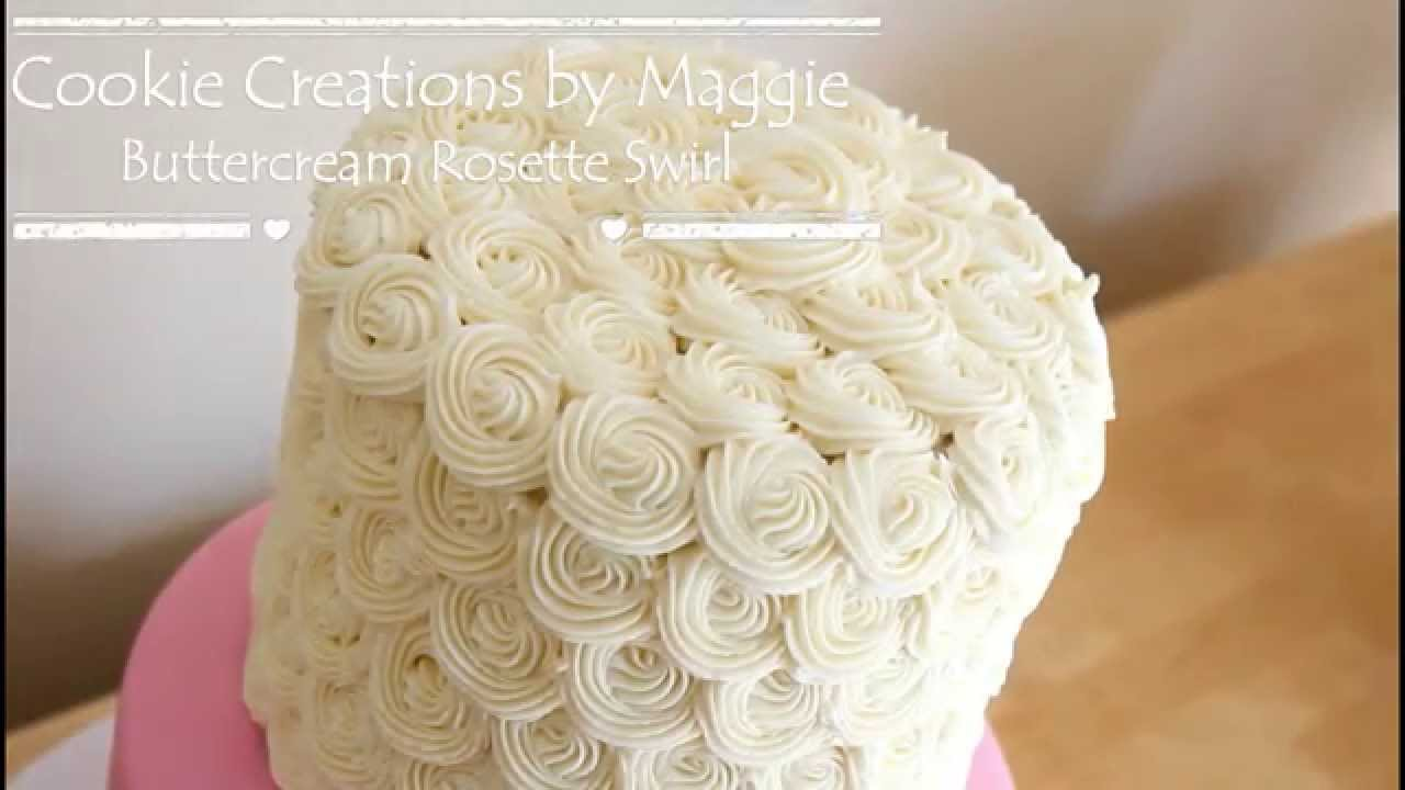 How To Pipe Mini Rosette Buttercream Swirls Wedding Cake Cookie Creations By Maggie