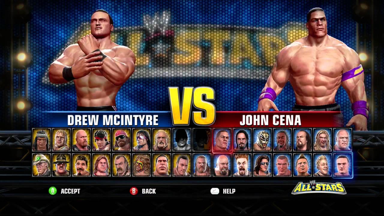 d94b90ced3fb Full WWE ALL STARS ROSTER - YouTube
