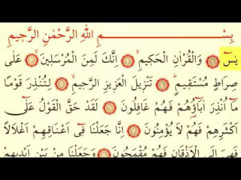 Surah Yaseen with Text Surah Yaseen Sheikh As Sudays