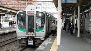 南仙台駅 仙台空港行上り列車入線・発車