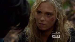The 100 1x12 - Finn gets rejected by Clarke after confessing his love.