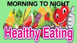 Morning to night healthy diet, diet plan for all (without exercise lose weight/gain weight/glowing skin). this is our first video in health section b...