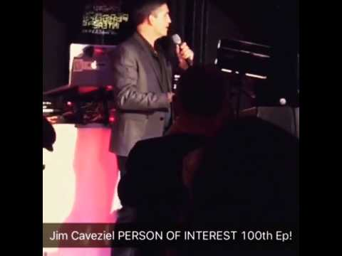Person of Interest Jim Caviezel gives thanks at 100th Episode Celebration  Party