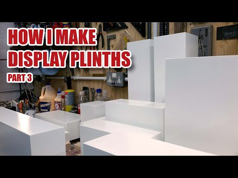 Making Display Plinths - MDF Painting Tips (Part 3 of 3)
