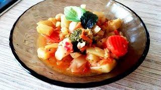 Вкуснейшее овощное рагу. Детские рецепты.