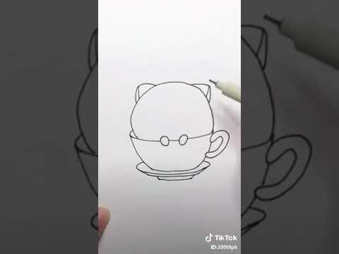 cách vẽ bé mèo ngồi trong cốc/-Bông tuyết trắng