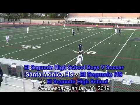 El Segundo High School BV Soccer, El Segundo v Santa Monica HS, January 30, 2019 (Senior Night)