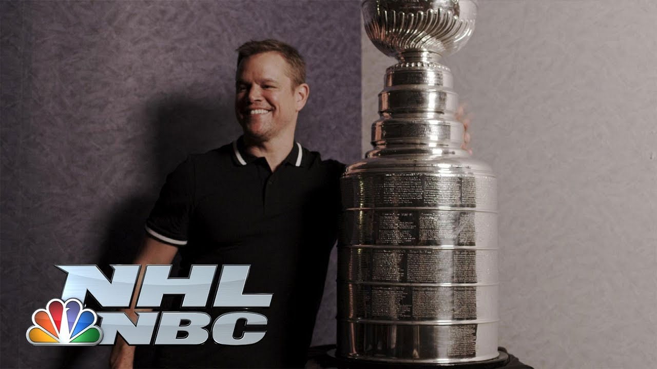 Boston Bruins fan Matt Damon surprised with Stanley Cup | NHL | NBC Sports