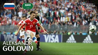 Aleksandr GOLOVIN Goal - Russia  v Saudi Arabia - MATCH 1