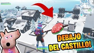 🐷 There is a **SECRET ALDEA** BELOW THE CASTLE!!! HOW TO GET IN??? 🐷 PEPA FORTNITE 🐷