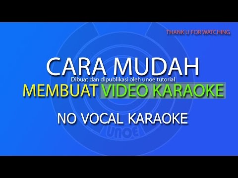 CARA EDIT VIDEO KARAOKE NO VOCAL DENGAN SONY SOUND FORGE 10