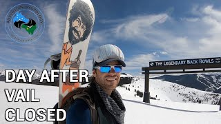 COVID CLOSES VAIL MOUNTAIN | EPIC DAY ALONE | VAIL RESORT | ADVENTURE HYDROLOGY | SNOWSHOE
