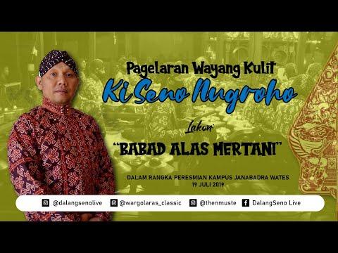 #LiveStreaming KI SENO NUGROHO - BABAD ALAS MERTANI