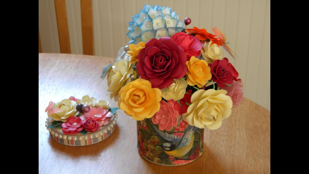 Handmade Flowers For Mothers Day Bouquet Gift Youtube