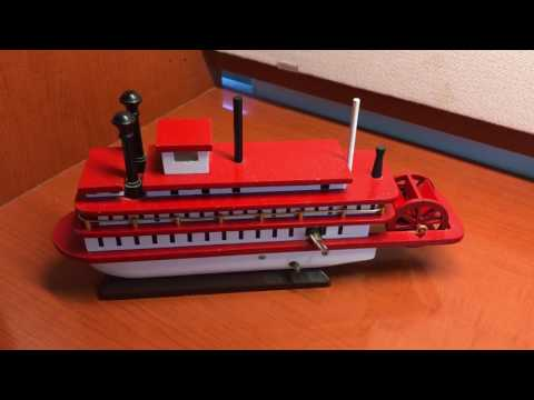 Vintage River Boat and Music Box