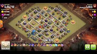 Clash of Clans, th12 Gameplay,  queen walk with bowitch, perfect attack