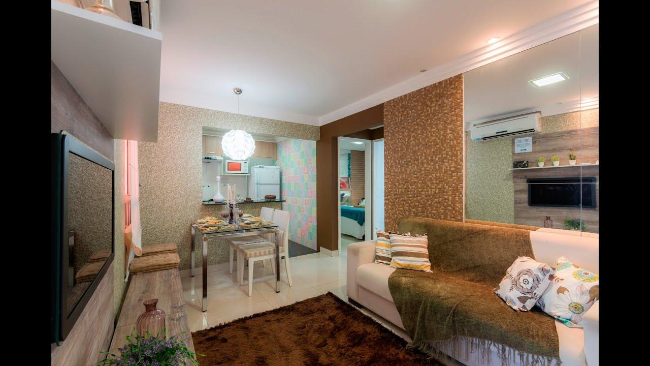 Mrv Decorado Sala Mrv Apartamento Decorado Em Montes Claros Mg Sala  -> Papel De Parede Sala Mrv