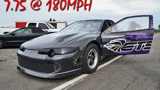 English Racing - Jeff Bush 7.75 @ 180mph - Quickest AWD Auto DSM