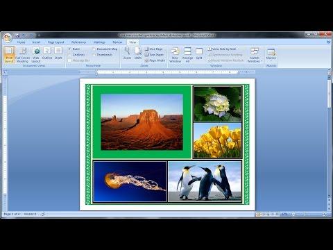 Belajar microsoft word 2007  Cara Menyisipkan Gambar ke Dalam ...