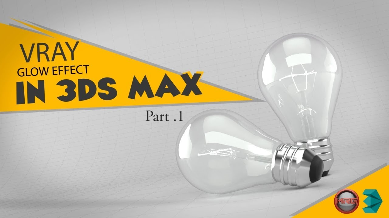 Vray Light Material (Glow Effect) in 3Ds Max - Part1