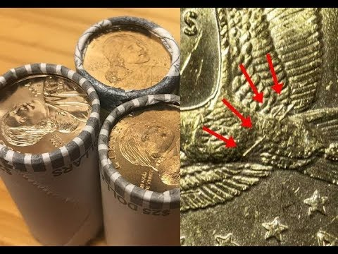 Discovered A Sealed Roll Of 2000 Sacagawea Dollars - Will I Find The Valuable Wounded Eagle Variety?