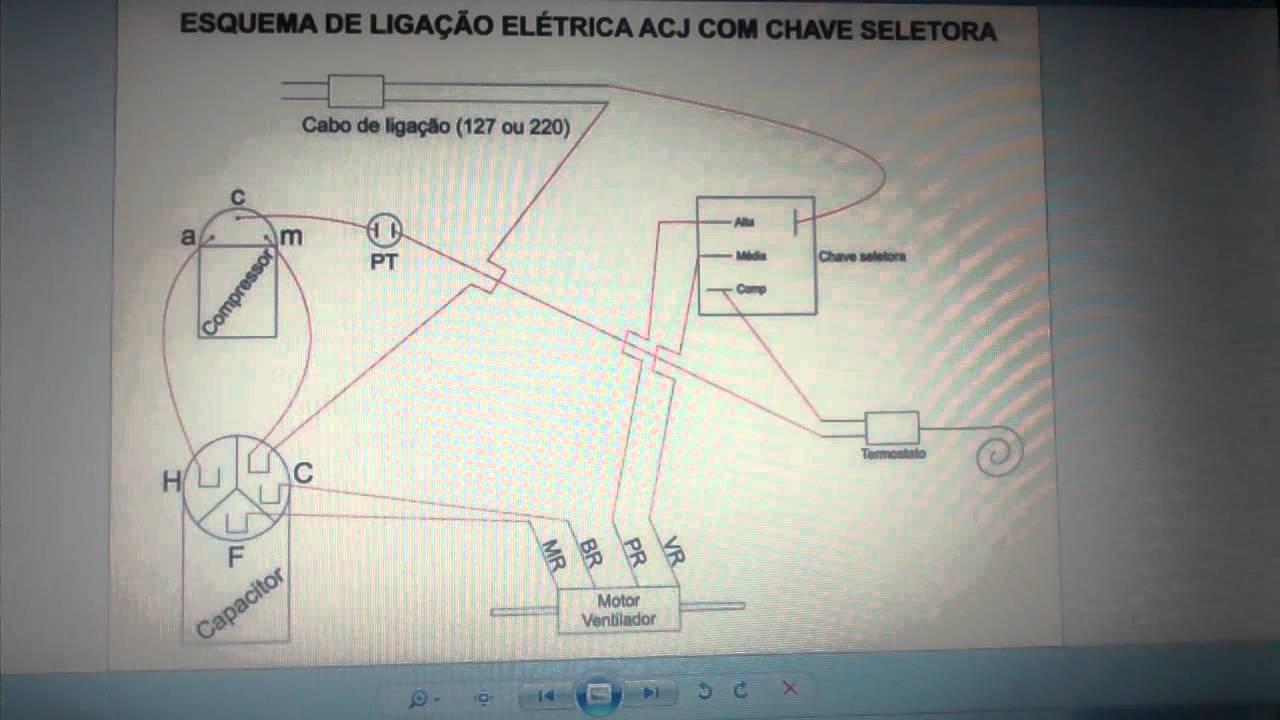 Liga U00e7 U00e3o El U00e9trica De Ar Condicionado De Janela Com Chave