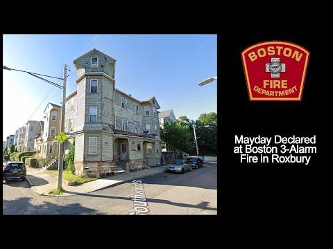 Boston 3-Alarm Fire Audio w/Mayday 3/1/2021 [Massachusetts]