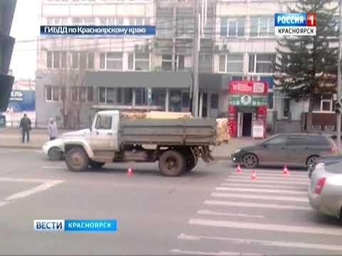 На улице Высотная в Красноярске грузовик сбил школьницу