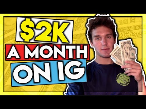 How To Make $2,000/Month On Instagram With 0 Followers💰