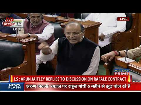 FM Arun Jaitley replies in Lok Sabha on Rafale