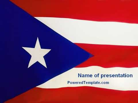 flag of puerto rico powerpoint template by poweredtemplate