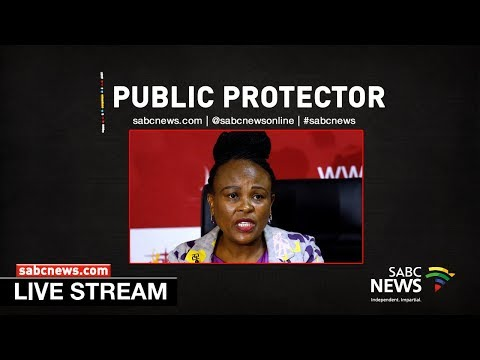 Public Protector Busisiwe Mkhwebane briefs media on investigation reports