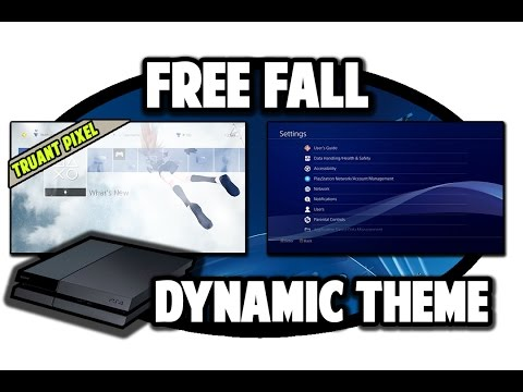 [PS4 THEMES] Free Fall Dynamic Theme By Truant Pixel Video In 60FPS