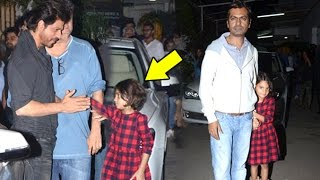 Shahrukh Khan Playing With Nawazuddin Siddiqui's CUTE Daughter Shora At Raees Movie Screening