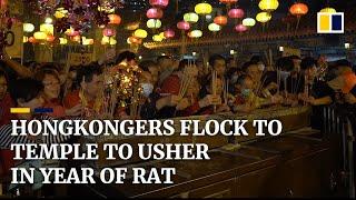 Hongkongers flocked to Wong Tai Sin Temple to usher in Year of the Rat