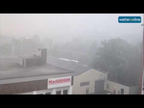 Unwetter: Downburst in Hamburg (22.06.2017)