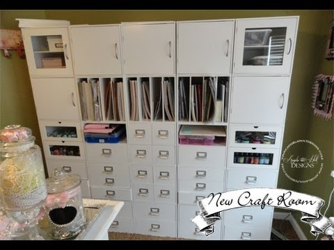 & My NEW Craft Room!!! Featuring Jetmax Craft Storage! - YouTube