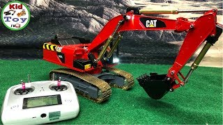 RC EXCAVATOR ENGINE SOUND || KID TOY TV || METAL UNBOXING  || REVIEW AND FIRST TIME IN DIRT