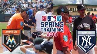 DIE HARD MARLINS FAN GOES TO SPRING TRAINING GAME VS THE YANKEES!