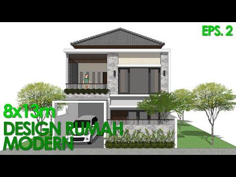 Desain Rumah Minimalis Modern Luas 100 Meter  drm vlog44 desain rumah minimalis luas tanah 60m2 konsep