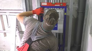 Ремонт ванной Трубы в стене Инсталляция Cersanit СТРОИМ ДЛЯ СЕБЯ