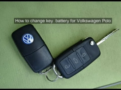 how to change key battery for volkswagen polo youtube. Black Bedroom Furniture Sets. Home Design Ideas